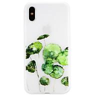billiga Mobil cases & Skärmskydd-fodral Till Apple iPhone X / iPhone 8 Ultratunt Skal Leka med Apple-loggan / Frukt Mjukt TPU för iPhone X / iPhone 8 Plus / iPhone 8