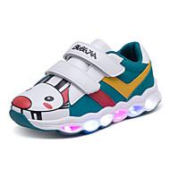 tanie Obuwie dziewczęce-Dla chłopców / Dla dziewczynek Obuwie PU Jesień i zima Wygoda / Świecące buty Adidasy Tasiemka / LED na Dzieci Biały / Zielony / Różowy / Wielokolorowa