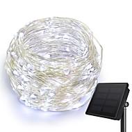 KWB 10m Fili luminosi 100 LED 1Impostare la staffa di montaggio Bianco caldo / Bianco / Blu Solare / Creativo / Impermeabile Ad energia solare 1set