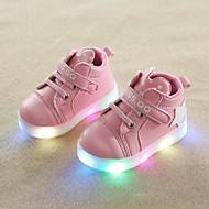 baratos Sapatos de Menina-Para Meninas Sapatos Couro Ecológico Primavera Verão Conforto Tênis Caminhada LED para Bébé Branco / Preto / Rosa claro