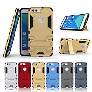 billiga Mobil cases & Skärmskydd-fodral Till Huawei Honor 8 med stativ Skal Enfärgad Hårt PC för Honor 8