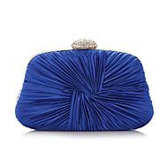 baratos Clutches & Bolsas de Noite-Mulheres Bolsas Poliéster Bolsa de Festa Detalhes em Cristal Roxo / Prateado / Azul Real
