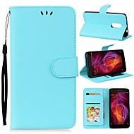 billiga Mobil cases & Skärmskydd-fodral Till Huawei Redmi Note 4X / Redmi Note 4 Plånbok / med stativ Fodral Enfärgad Hårt PU läder för Xiaomi Redmi Note 4X / Xiaomi Redmi Note 4 / Xiaomi Redmi Note 3