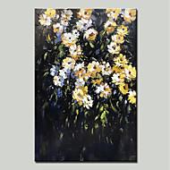 billiga Landskapsmålningar-Hang målad oljemålning HANDMÅLAD - Landskap / Blommig / Botanisk Traditionell Duk