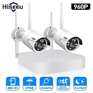 cheap Wireless CCTV System-Hiseeu Wireless CCTV camera System 960P 4ch 1.3MP IP Camera waterproof outdoor P2P Home Security System video Surveillance Kits