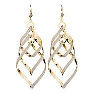 Damen Mehrlagig Tropfen-Ohrringe Ohrringe damas Stilvoll Klassisch Schmuck Gold / Silber Für Alltag 1 Paar