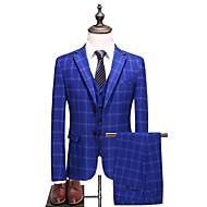 Χαμηλού Κόστους Ανδρική Μόδα & Ρούχα-Ανδρικά Μεγάλα Μεγέθη Στολές Houndstooth Κλασικό Πέτο / Μακρυμάνικο