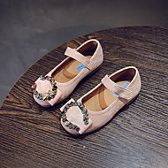 baratos Sapatos de Menina-Para Meninas Sapatos Camurça Primavera Verão Conforto / Sapatos para Daminhas de Honra Rasos Caminhada Pedrarias / Presilha / Velcro para Adolescente Bege / Azul / Rosa claro