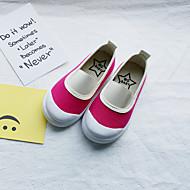 baratos Sapatos de Menina-Para Meninas Sapatos Lona / Couro Ecológico Primavera Verão Conforto Mocassins e Slip-Ons Caminhada para Infantil Verde / Azul / Branco /