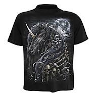 Herre - Geometrisk / Dyr Aktiv / Basale T-shirt