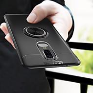 billiga Mobil cases & Skärmskydd-fodral Till OnePlus OnePlus 6 Ringhållare Skal Enfärgad Mjukt TPU för OnePlus 6
