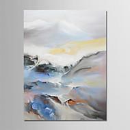 voordelige -Hang-geschilderd olieverfschilderij Handgeschilderde - Abstract / Landschap Modern Kangas