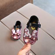 女の子 靴 合成物 春夏 コンフォートシューズ サンダル スパンコール / 面ファスナー のために 赤ちゃん ブラック / シルバー / ピンク
