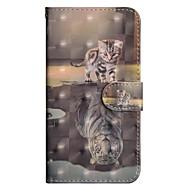 billiga Mobil cases & Skärmskydd-fodral Till Apple iPhone X / iPhone 8 Plus Plånbok / Korthållare / med stativ Fodral Katt Hårt PU läder för iPhone X / iPhone 8 Plus / iPhone 8