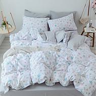 baratos Edredons Florais-Conjunto de Capa de Edredão Floral 100% algodão Estampado 4 Peças