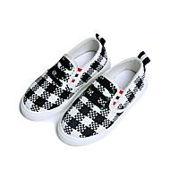 baratos Sapatos de Menina-Para Meninas Sapatos Lona Primavera Verão Conforto Mocassins e Slip-Ons Caminhada para Adolescente Preto / Marron / Vermelho