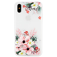 Etui Til Apple iPhone X / iPhone 8 Ultratyndt Bagcover Blomst Blødt TPU for iPhone X / iPhone 8 Plus / iPhone 8