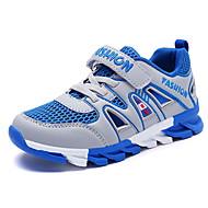 baratos Sapatos de Menino-Para Meninos Sapatos Tule / Couro Ecológico Primavera Verão Conforto Tênis Caminhada Velcro para Infantil Cinzento Escuro / Verde / Azul