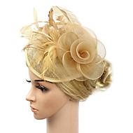 女性用 Kentucky Derby フラワー ヴィンテージ エレガント ファブリック,ソリッド キュービックジルコニア / 結婚式 / オールシーズン