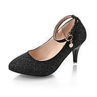 baratos Sapatos Femininos-Mulheres Sapatos Couro Ecológico Verão Plataforma Básica Saltos Caminhada Salto Agulha Dedo Apontado Lantejoulas Prata / Roxo / Rosa claro