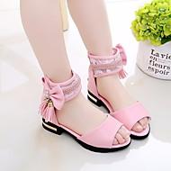 baratos Sapatos de Menina-Para Meninas Sapatos Couro Ecológico Verão Conforto / Sapatos para Daminhas de Honra Sandálias Caminhada Laço / Mocassim / Velcro para