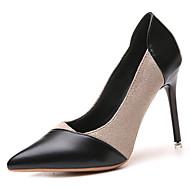 baratos Sapatos Femininos-Mulheres Sapatos Couro Ecológico Verão Plataforma Básica Saltos Salto Agulha Dedo Apontado Bege / Amarelo / Rosa claro / Festas & Noite
