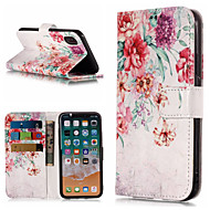 billiga Mobil cases & Skärmskydd-fodral Till Apple iPhone X / iPhone 8 Plus Plånbok / Korthållare / med stativ Fodral Blomma Hårt PU läder för iPhone X / iPhone 8 Plus / iPhone 8