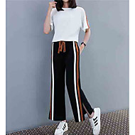 女性用 セット ストライプ パンツ