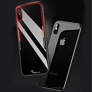 billiga Mobil cases & Skärmskydd-fodral Till Apple iPhone X / iPhone 8 Genomskinlig Skal Enfärgad Hårt Akrylfiber för iPhone X / iPhone 8 Plus / iPhone 8
