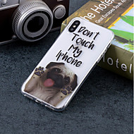 billiga Mobil cases & Skärmskydd-fodral Till Apple iPhone X / iPhone 8 IMD / Mönster Skal Hund Mjukt TPU för iPhone X / iPhone 8 Plus / iPhone 8