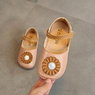 baratos Sapatos de Menina-Para Meninas Sapatos Couro Ecológico Primavera Verão Sapatos para Daminhas de Honra Rasos Caminhada Presilha para Infantil Branco / Rosa claro / Khaki