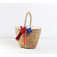baratos Bolsas Tote-Mulheres Bolsas Palha Tote Caixilhos / Fitas Azul / Branco / Vermelho