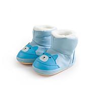 baratos Sapatos de Menina-Para Meninas Sapatos Algodão Outono & inverno Primeiros Passos / Forro de fluff Botas Estampa Animal para Bébé Verde / Azul