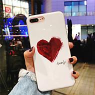 billiga Mobil cases & Skärmskydd-fodral Till Apple iPhone X / iPhone 8 Plus IMD / Mönster Skal Hjärta Mjukt TPU för iPhone X / iPhone 8 Plus / iPhone 8