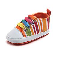 baratos Sapatos de Menino-Para Meninos Sapatos Lona Primavera & Outono Primeiros Passos Tênis Velcro para Bebê Laranja / Arco-íris / Azul