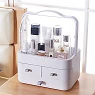 billige Lagring og oppbevaring-kosmetisk / Sminke Planlegger Plast Lagring og Organisering Multifunksjonell Rektangulær 1pc