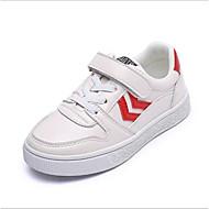baratos Sapatos de Menino-Para Meninos Sapatos Microfibra / Couro Ecológico Primavera Conforto Tênis Cadarço para Branco / Preto / Vermelho