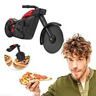 billige Kjøkkenredskap-motorsykkel pizza cutter rustfritt stål hjul kniv ruller pizza chopper slicer