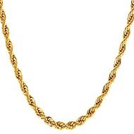 Herr Rep Chokerhalsband Rostfritt stål Mode Guld Svart Silver 55 cm Halsband Smycken 1st Till Gåva Dagligen