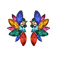 Women's Chandelier Stud Earrings Earrings Ladies Trendy Jewelry White / Rainbow For Masquerade Holiday 1 Pair