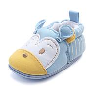baratos Sapatos de Menino-Para Meninos / Para Meninas Sapatos Algodão Primavera & Outono Primeiros Passos Mocassins e Slip-Ons Elástico para Bebê Azul / Rosa claro / Amêndoa
