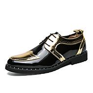 baratos Sapatos Masculinos-Homens Couro Envernizado / Sintéticos Outono & inverno Conforto / Formais Oxfords Estampa Colorida Dourado / Preto / Prateado