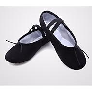 billige Ballettsko-Dame Ballettsko Lerret Joggesko Flat hæl Dansesko Svart / Rosa / Kamel