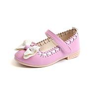 baratos Sapatos de Menina-Para Meninas Sapatos Couro Sintético Primavera & Outono Conforto / Sapatos para Daminhas de Honra Rasos Laço / Velcro para Infantil Branco / Azul Escuro / Rosa claro / Festas & Noite