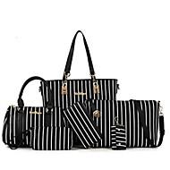 Women's Bags PU(Polyurethane) Bag Set 6 Pieces Purse Set Zipper Blushing Pink / Light Gray / Sky Blue