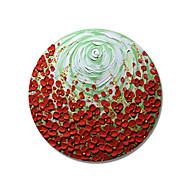 billige Nyheter-Hang malte oljemaleri Håndmalte - Blomstret / Botanisk Moderne Lerret