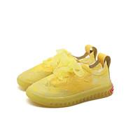 baratos Sapatos de Menina-Para Meninas Sapatos Com Transparência Primavera Verão Conforto Tênis Caminhada Cadarço de Borracha para Bébé Amarelo / Verde / Rosa claro