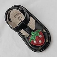 baratos Sapatos de Menina-Para Meninas Sapatos Pele Primavera Verão Primeiros Passos Sandálias Velcro para Bébé Preto / Rosa claro