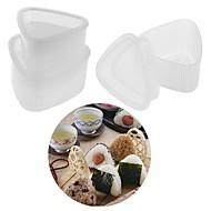 billige Bakeredskap-4pcs kjøkken bento dekorere sushi onigiri mold mat press triangulær form ris ball maker gjennomsiktig