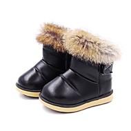 baratos Sapatos de Menina-Para Meninas Sapatos Couro Sintético Inverno Conforto / Botas de Neve Botas Velcro para Infantil Preto / Festas & Noite